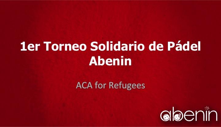1er Torneo Solidario de Pádel  Abenin